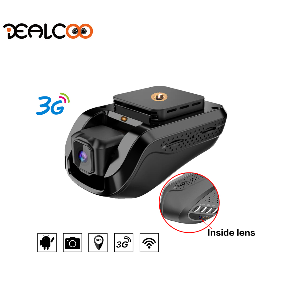 Dealcoo мини 3G Wi Fi Видеорегистраторы для автомобилей 1080 P регистраторы Регистраторы вращающийся Двойной объектив автомобиля Камера Беспроводн