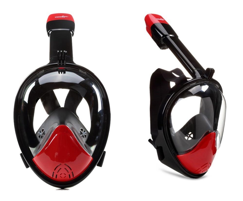 Livraison gratuite! NEW hot-vente w/Gopro maintenir Ronde lentille Liquide silicone snorkeling fullface masque plein visage sec snorkeling plongée masque