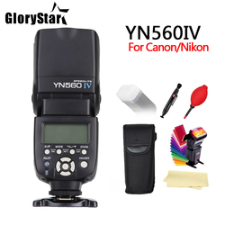 GloryStar YN560 IV 2.4GHZ Wireless Flash Speedlite Transceiver Integrated for Canon Nikon Panasonic Pentax Camera