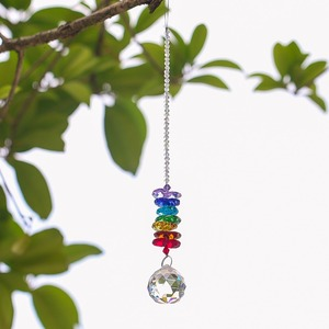 Image 4 - H&D Chakra Crystal Suncatcher Chandelier Crystal Ball Prisms Pendant Rainbow Maker Window Hanging Ornament Home Wedding Decor