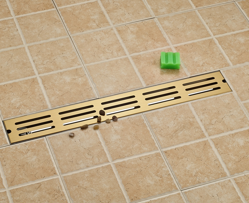 Gold Stainess Steel 70cm Bathroom Shower Floor Drain Floor Mount Ground Leakage gold stainess steel 70cm bathroom shower floor drain floor mount ground leakage
