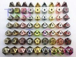 مجموعة نرد معدنية عالية الجودة d4 d6 d8 d10 d % d12 d20 لوحة ألعاب Rpg دادوس جوجوس dnd مع صندوق للهدايا