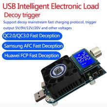 KZ35-medidor de capacidad de descarga, dispositivo electrónico de carga de corriente constante, USB tipo C QC2.0/3,0 AFC FCP, batería, Testser