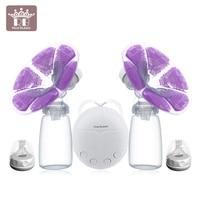 DIY Intelligent USB electric breast pumps baby BPA Free Postpartum Breast feeding Breast milk suckers Single double breast pump