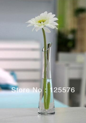 Free Shipping High Quality Clear Glass Vase For Single Flowerhigh