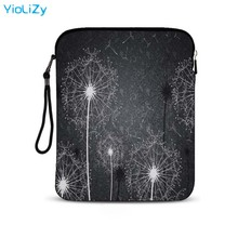 цена на Dandelion print 9.7 10.1 inch Smart tablet case laptop bag Cover mini Ultrabook notebook sleeve for Samsung Galaxy Tab IP-9288