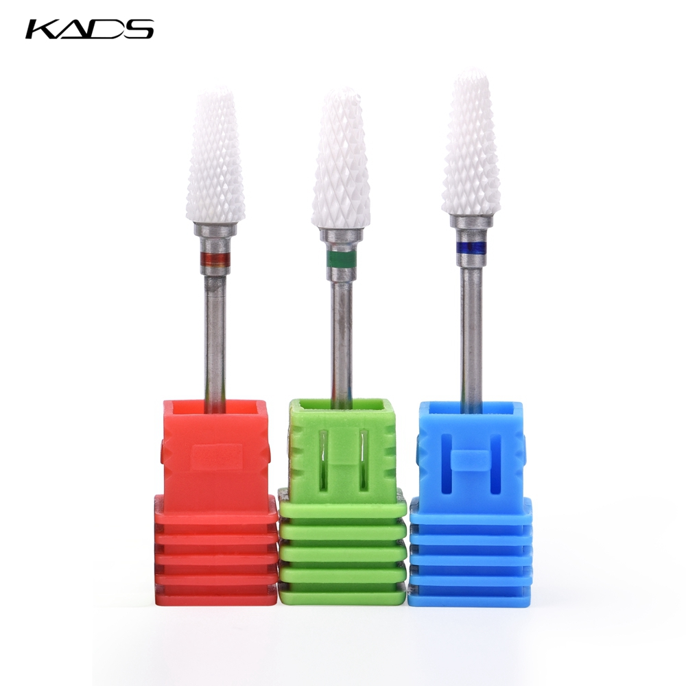 KADS Ceramic Nail Drill Bit Grinding Stone Head For Electric Manicure Machine Accessories Nail Art Tools Electric Manicure