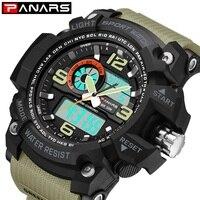 2018 PANARS Casual Watch Men G Style Waterproof Sports Military Watches Shock Men's Luxury Analog Digital Quartz Wrist Watch