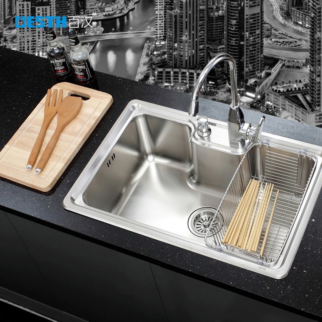 One hundred Chinese BH 6845 304 stainless steel sink sink single ...