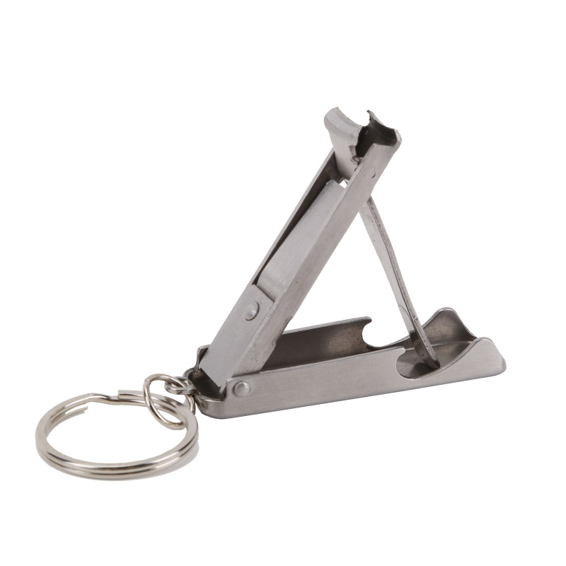 2in1 Bottle Opener Stainless EDC Foldable Hand Toe Nail Clipper Cutter Keychain