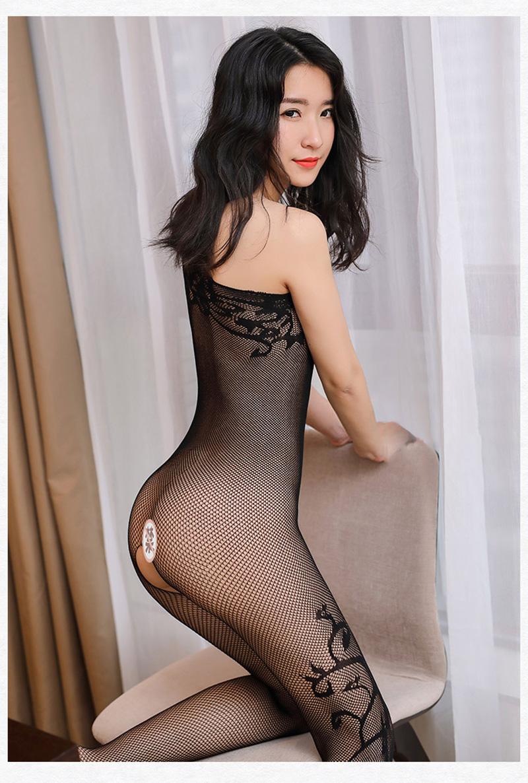 2066038a65 Hot Sale 2017 Transparent Oblique Shoulder Open Crotch Bodystocking ...