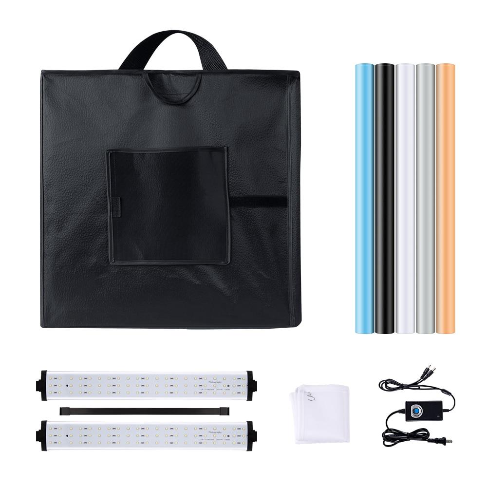 Image 2 - Yizhestudio photo box 40*40 cm LED Light box tabletop Shooting foldable Tent led studio box photobox for photography background-in Tabletop Shooting from Consumer Electronics