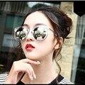 D 2016 de manera transparente de las mujeres gafas de sol mujeres vintage mujer gafas de sol gafas de sol feminino marca Uv400 espejo