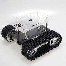 Robô inteligente tanque chassis rastreou a plataforma do carro com 33gb-520 motor para arduino diy robô brinquedo parte mini t101 nova chegada 2018