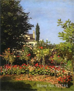 Copy oil paintings famous artist Garden in Bloom at Sainte Addresse Claude Monet artwork handmade for home wall decoration