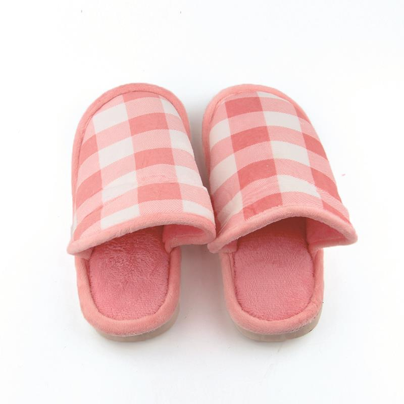 4b4c0d0e50b3 Women Home Plaid Slippers Fleece Warm Winter Anti Slip Slippers Thicken  High Quality Indoor Slippers Fashion Woman Shoes-in Slippers from Shoes on  ...