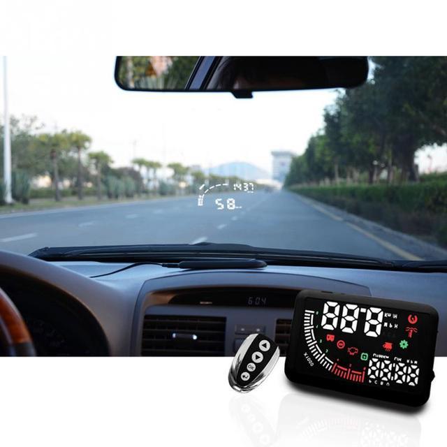 car hud head up display obd ii 2 speed warning system fuel. Black Bedroom Furniture Sets. Home Design Ideas