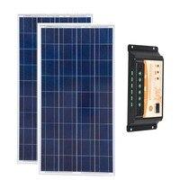 Солнечный комплект 300 Вт панно Solaire 12 В 150 Вт 2 предмета Солнечный дом Системы Контроллер заряда 12 В/ 24 В 20A Авто Кемпинг Caravaning
