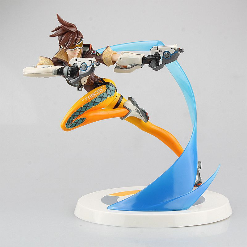 Anime Game Tracer Limited Editon PVC Action Figure Collectible Model Toy 26cm KT3119 1pc lot ow over watch action figure tracer with light update version 26cm high pvc statue retail box 26cm