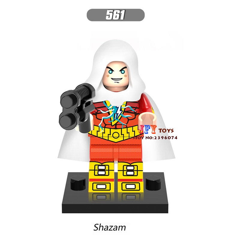 50pcs super heroes models Justice League Shazam Captain Marvel building blocks bricks hobby Gift toys for