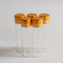 6ml empty Gold lid Glass bottles 16*60mm Clear Screw cap Small glass vial Candy jar Home Storage 50pcs/lot