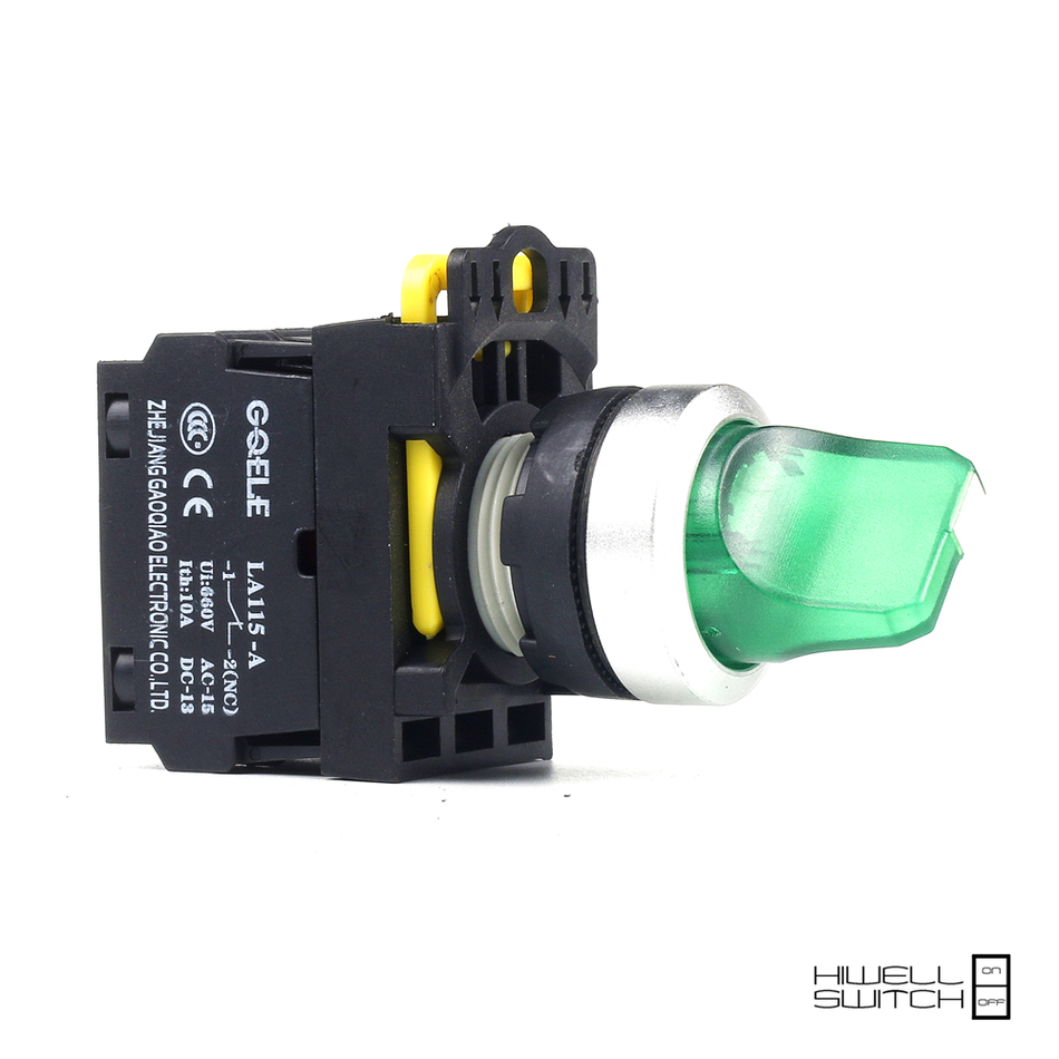 5 PCS Push button switch Selector switch Short handle 2-Position LED Latching IP65 1NO 1NC 1NO+1NC 2NO 2NC LA115-A2-11XD-R31 1 no 1 nc three 3 positon rotary selector select switch latching 22mm
