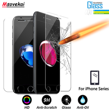 hot deal buy tempered glass for iphone 8 plus for iphone xs max xr 7 plus 6 6s plus 5s se screen protector 2.5d 9h protective glass film case