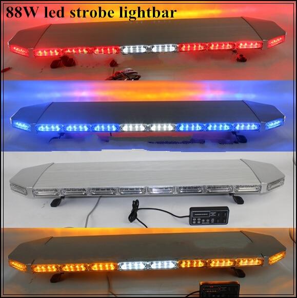 Выше star 120 см 88 Вт светодио дный водить автомобиль аварийный световой, предупреждение свет бар для полиции скорой помощи пожарная машина, во