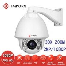 цена на IMPORX 2MP 20X/30X ZOOM Intelligent Auto Tracking POE PTZ IP Camera 1080P Speed Dome Security Surveillance CCTV Network Camera