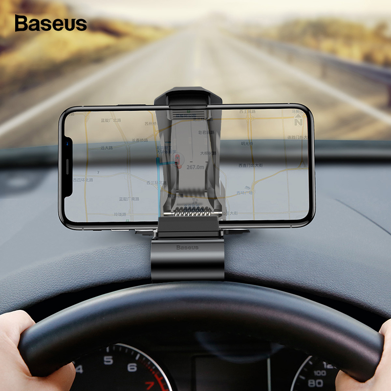 Baseus Dashboard Car Phone Holder For IPhone Samsung Huawei P30 Pro Clip Mount Car Holder Not Magnetic Mobile Phone Holder Stand