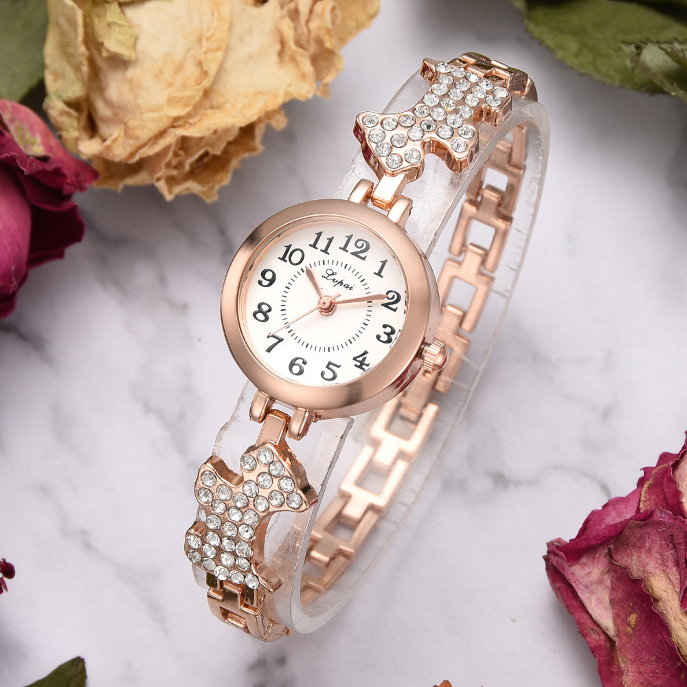 2018 Wrist Watches For Women Luxury Rose Dog Band Bracelet Watch Fashion Casual Ladies Women's Dress Clock Relogio Feminino