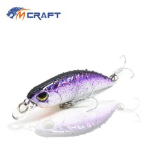 Купить с кэшбэком fishing lure wobblers Jerkbait 8 Colors 5cm 4.0g Hard Bait Minnow Crank Fishing lures hooks Bass Fresh Salt water tackle sinking