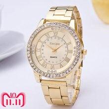 982f10dd7f48 Kanima de marca de lujo Neutral relojes de cuarzo de los hombres y las  mujeres de diamantes reloj de oro de acero inoxidable ana.