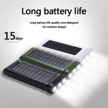 3LED light Pathfinder Solar Charging outdoorSolar Mobile Power 30000mAh Solar Rechargeable Mobile Phone External Battery Pack