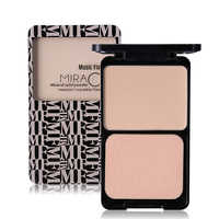 Music Flower Brand Face Base Pressed Powder Makeup Matte Shimmer Fix Palette Concealer Contour Nude Compact Cosmetics With Puff