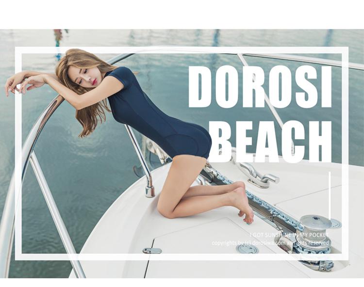 LYSEACIA Black Sexy Women Swimwear One Piece Suits Beach Wear Push Up Swimsuit Zipper New Short Sleeve RASHGUARD Swimming Suit 2