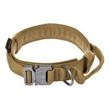 Táctico militar 1.5 pulgadas 1 pulgadas Collar de Perro Etiquetas de IDENTIFICACIÓN Ley Suministros Para Mascotas Cachorro de Pastor Alemán de Caza Airsoft Paintball Gear