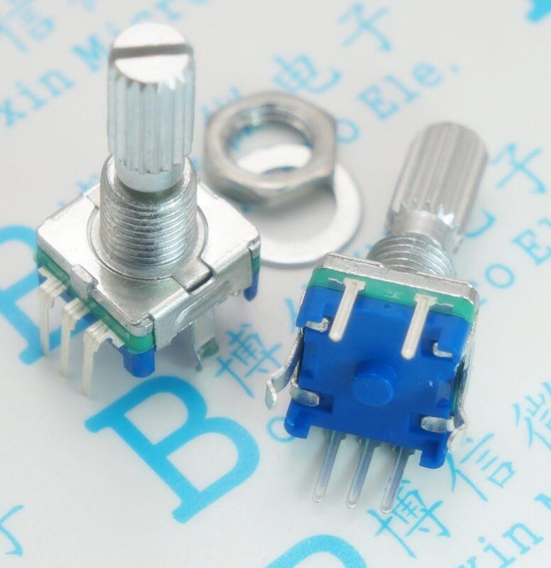 10PCS/LOT Plum handle 20mm rotary encoder coding switch EC11 digital potentiometer [bella]original japanese alps encoder ec11 encoder encodes the switch handle length 15mm 10pcs lot