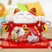 Kyrgyzstan Good Lucky Cat Ornaments Large Ceramic Japanese Piggy Bank Home Furnishing Gift Shop Opened To
