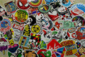 100 Pieces Stickers Skateboard Sticker Graffiti Laptop Luggage Car Decals mix lot Sticker Christmas Child Gift