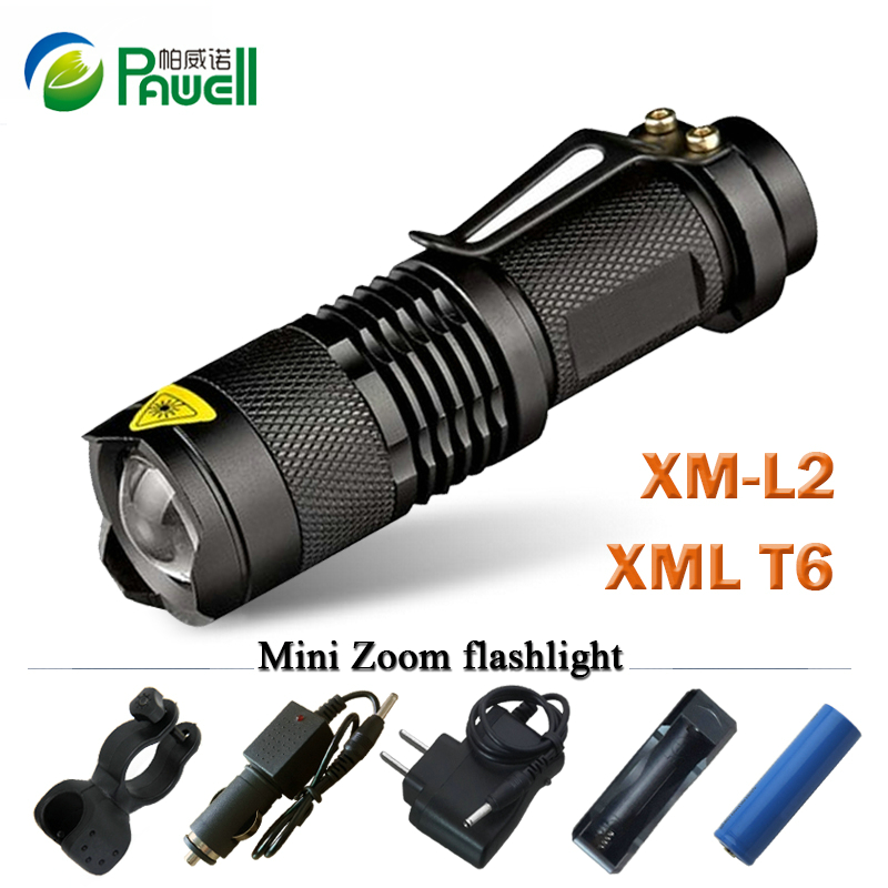 Zoom mini cree xml T6 l2 Led Flashlight Led Torch 5 mode ...