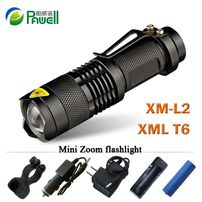 Zoom mini cree xml T6 l2 Led Flashlight Led Torch 5 mode ...