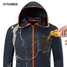 Водонепроницаемая Мужская одежда для рыбалки, противообрастающая технологическая гидрофобная одежда для рыбалки, куртки с капюшоном для рыбалки на открытом воздухе из шелка