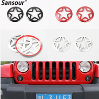 3 Colors Available Aluminum Front Fog Light Covers for Wrangler 2007-2016 Turning Lights Guards Foglight Hood Cover Car Styling