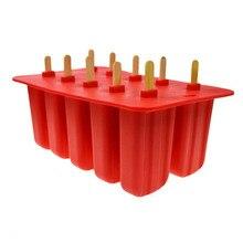 SDFC-силикагелевая форма для мороженого, форма для мороженого 10 с силиконовой формой, высокое качество, красный