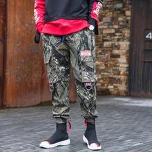 Новая Осенняя мужская штаны-шаровары личность случайные свободные камуфляж Удобные большой карман комбинезоны Штаны в стиле хип-хоп костюмы
