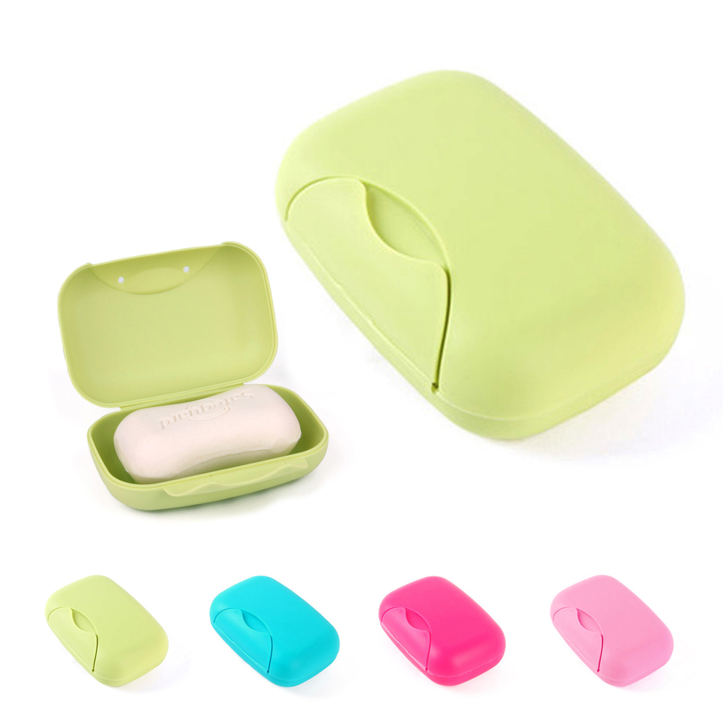 1pcs Simple Travel Square Bathroom Shower Soap Dish Box Waterproof Outdoor Hiking Camping Soap Case Portable Container Holder