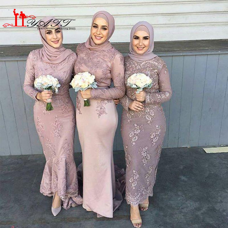 Popular long sleeve dresses for wedding guest buy cheap for Muslim wedding guest dresses