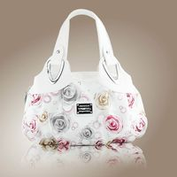 Aresland 2017 Fashion Printing Rose Flower Women Totes Bag Luxury Brand With Ruched Black Red Green