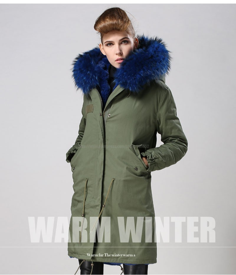Women raccoon Winter Warm Parka high quality Faux Fur parka Hooded Coat Overcoat Tops Women's Fur Jacket 28